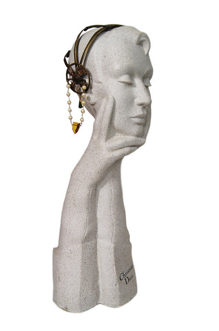 1920s Brass Tone Flapper Head Piece