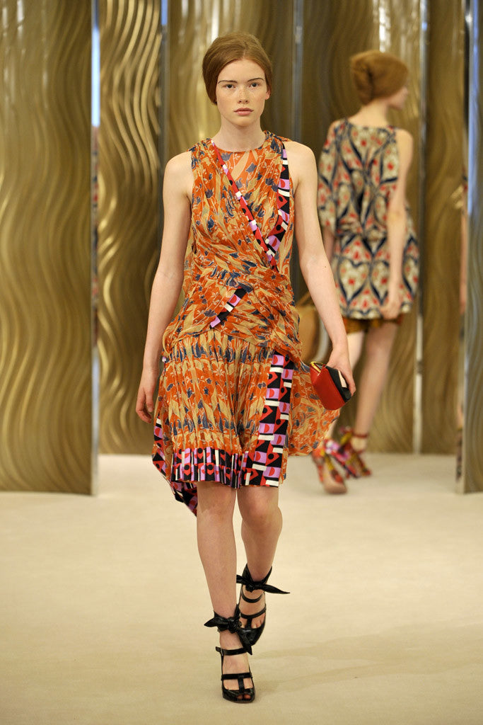 Resort 2010 Collection Pretty Printed Prada Cotton Dress