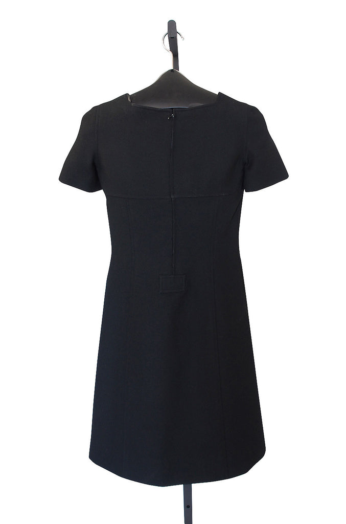 1960s Black Courreges Paris Shift Dress