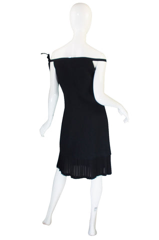 1990s Versace Couture Chic Little Black Dress