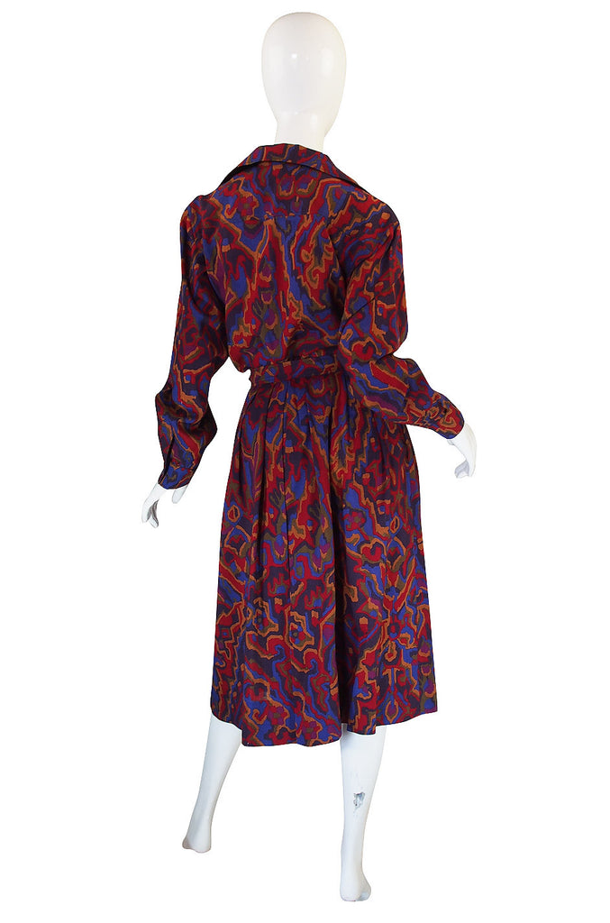 1970s Beautiful Wool Challis Yves Saint Laurent Set