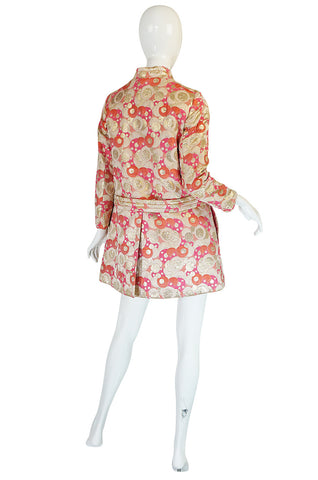 1960s Pink Metallic Pat Sandler Dress & Coat