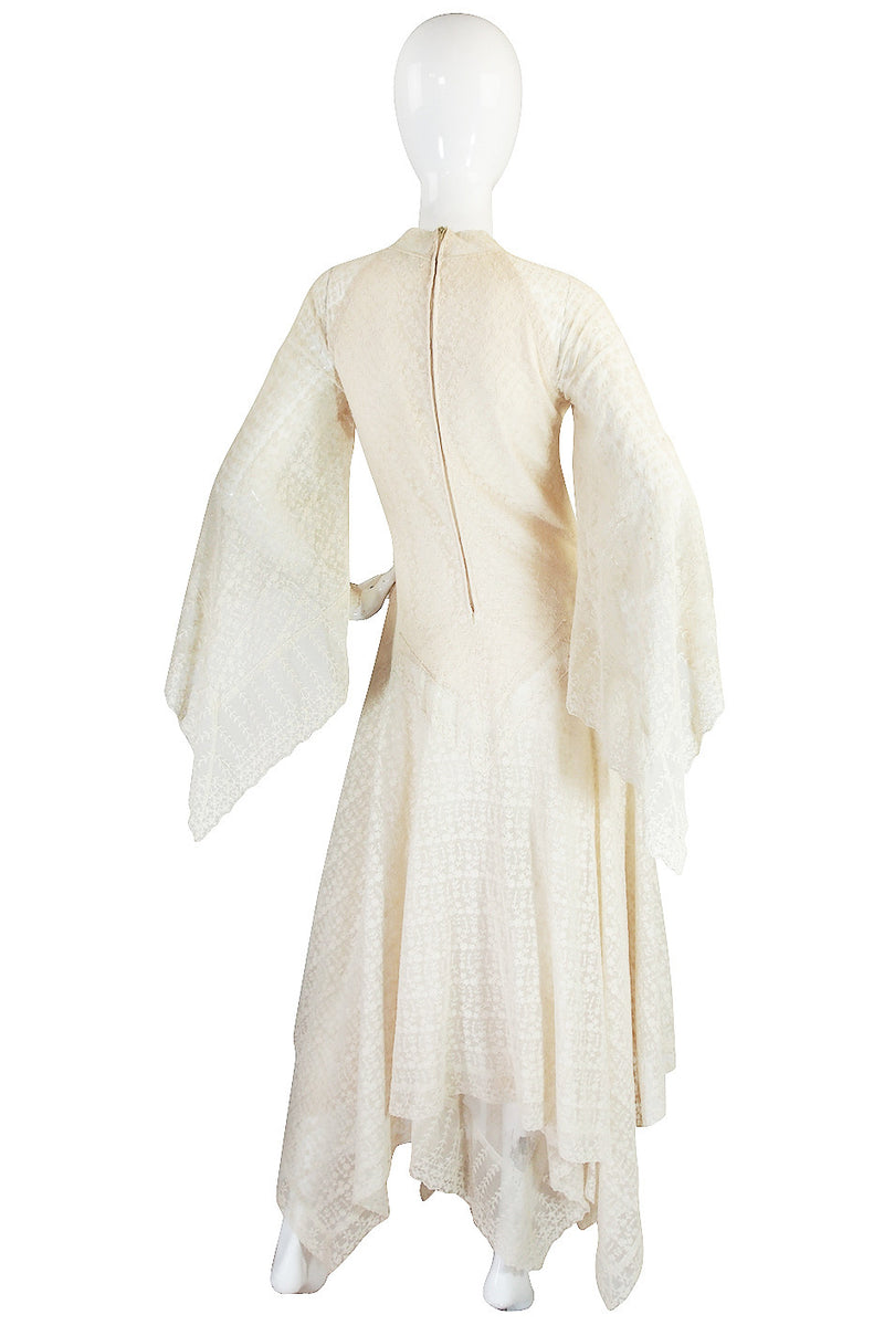 1970s Handkerchief Hem Giorgio di Sant Angelo Dress