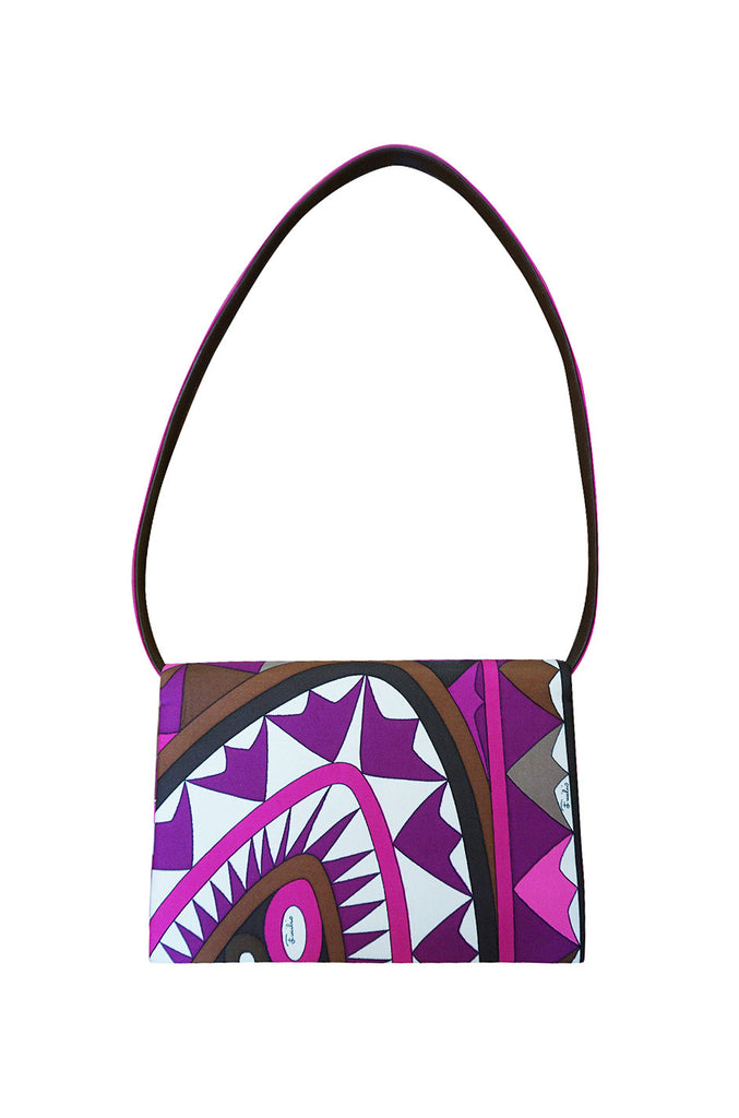 1960s Convertible Emilio Pucci Silk Print Clutch Bag