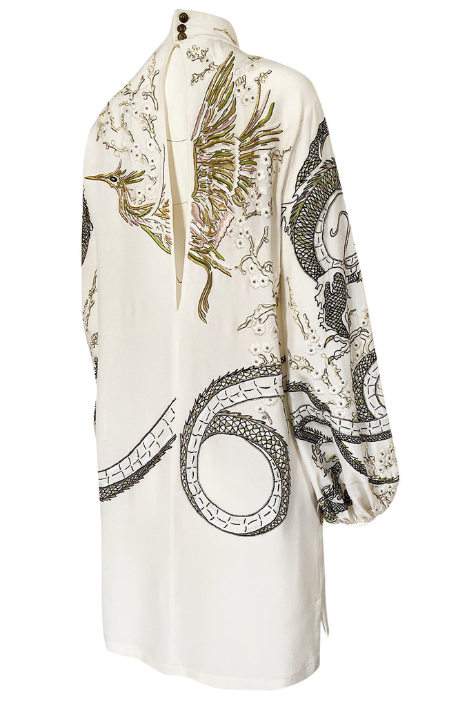 Spring 2013 Peter Dundas for Emilio Pucci Embroidered Dragon Dress