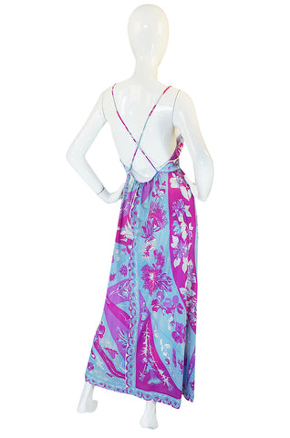 1960s Backless Floral Emilio Pucci for Formfit Rogers