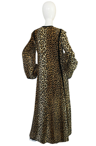Statement c1969-75 Malcolm Starr Leopard Caftan Dress