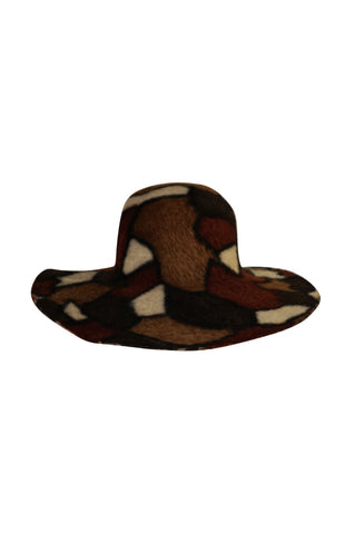 1980s Yves Saint Laurent Attributed Patchwork Soft Hat