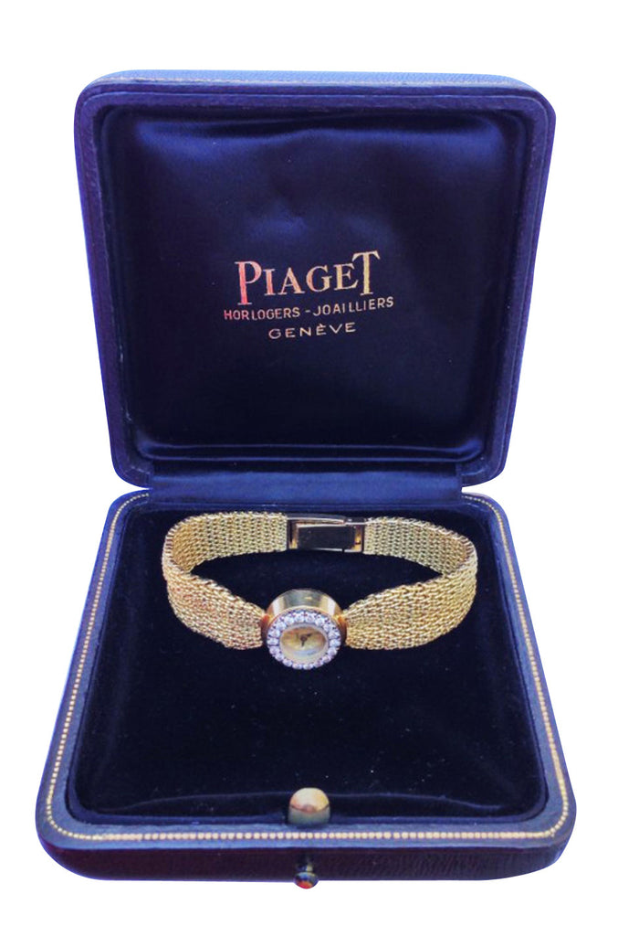 1962 Piaget Lady's Yellow Gold and Diamond Bracelet Watch