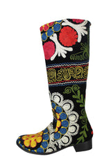 Rare 1960s Embroidered Boots 39