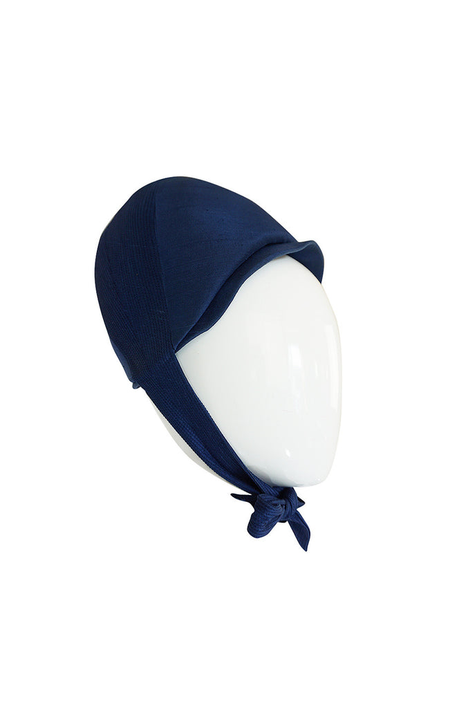1960s Mod Wired Bubble Blue Silk Christian Dior Hat
