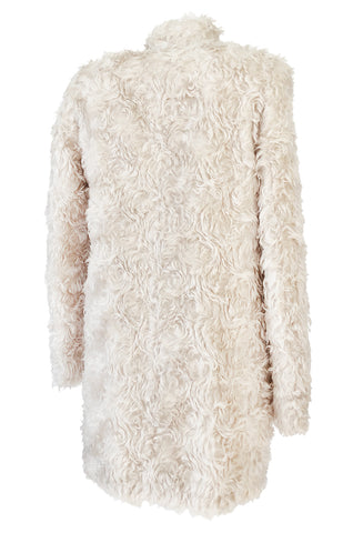 Fall 2013 Stella McCartney 'Bryce' Ivory Mohair Faux Fur Jacket or Coat