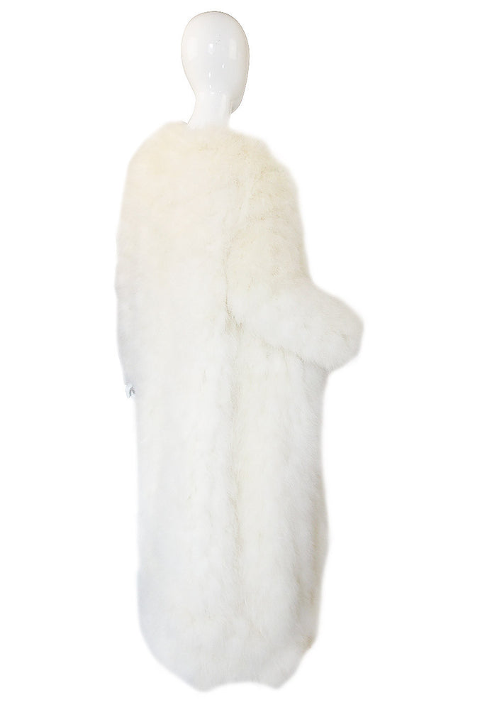 1960s Donald Brooks Ostrich Feather Maxi Coat