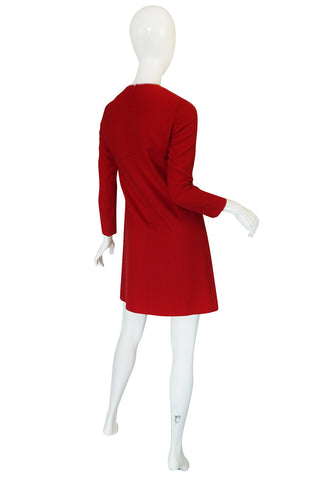 1960s Pierre Cardin for Takashimaya Red Loop Dress