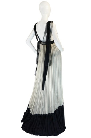Recent Ethereal Silk Chiffon & Net Alberta Ferretti Dress