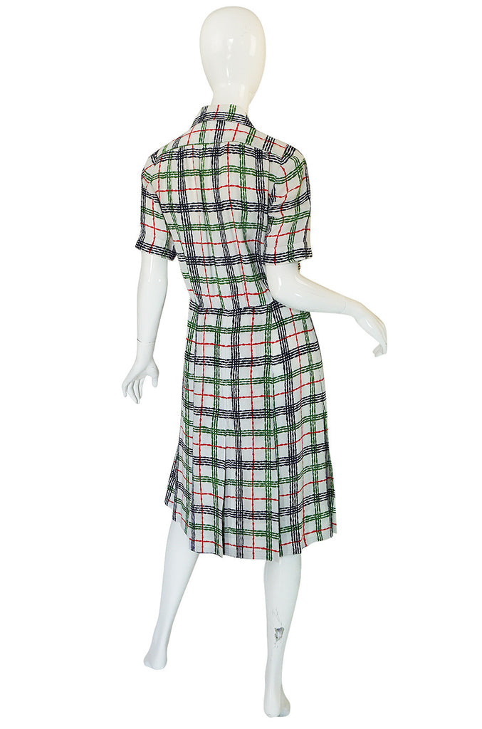 Now On Sale - 1980s Yves Saint Laurent Crepe Print Day Dress