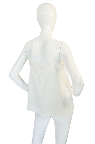 Early 2000s Phoebe Philo for Chloe Cream Silk Camisole Top
