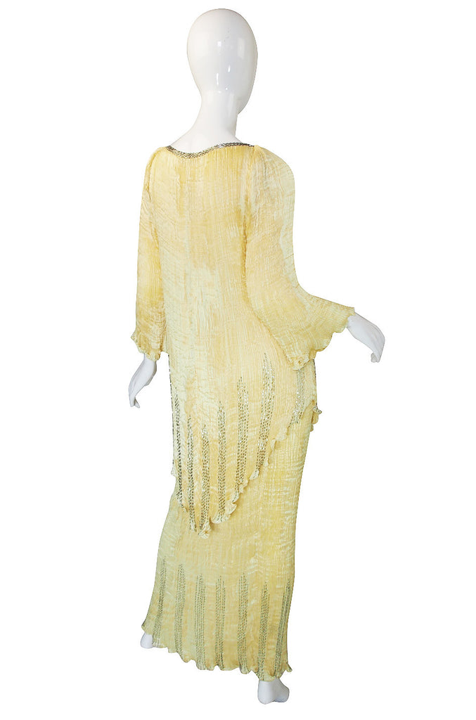 Early 1980s Rare Patricia Lester Silk & Bead Gown/Set
