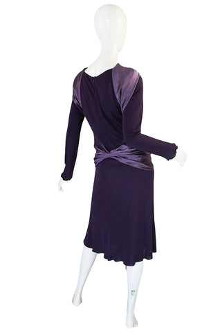 2004 F/W Alexander McQueen Purple Tie Runway Dress