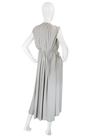 S/S 2008 Bottega Veneta Runway Light Grey Silk Cut Out Dress