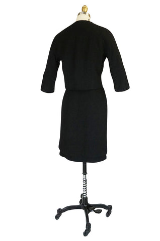 c1957 Black Cristobal Balenciaga Haute Couture Suit