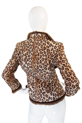 F2006 RTW McQueen Leopard and Fur Jacket