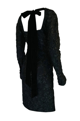 F/W 2002 Tom Ford for Yves Saint Laurent Runway Textured Dress