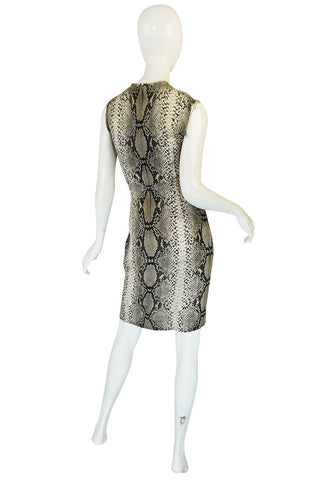 Resort 2011 Snakeskin Print Lanvin Silk Shift Dress