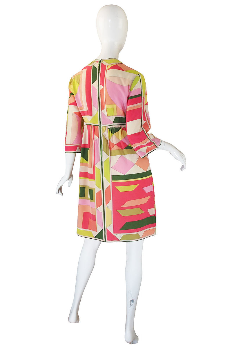 1960s Citrus Silk Emilio Pucci Shift Dress