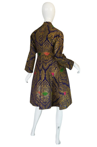 Antique 19th Century Exceptional Russian Metallic Brocade Coat