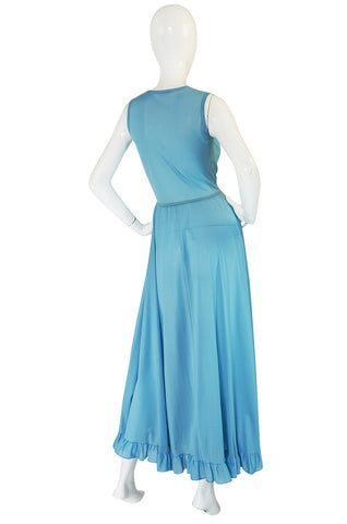 Treasure Item - 1970s John Kloss for Cira Blue Lingerie Dress