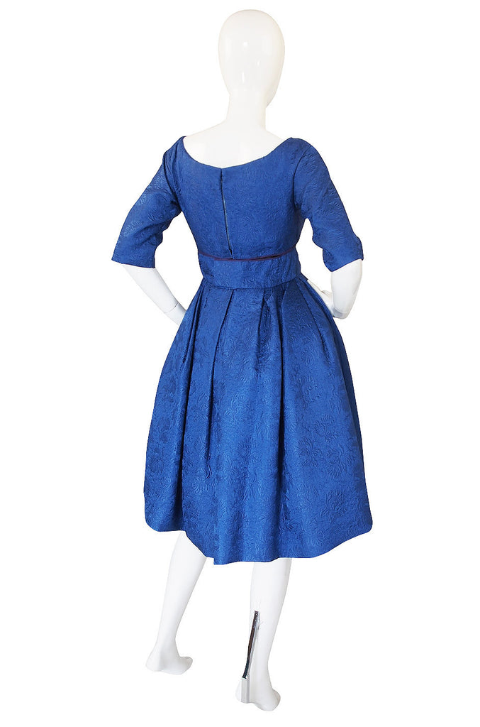 1950s Numbered Christian Dior Silk Brocade Dress