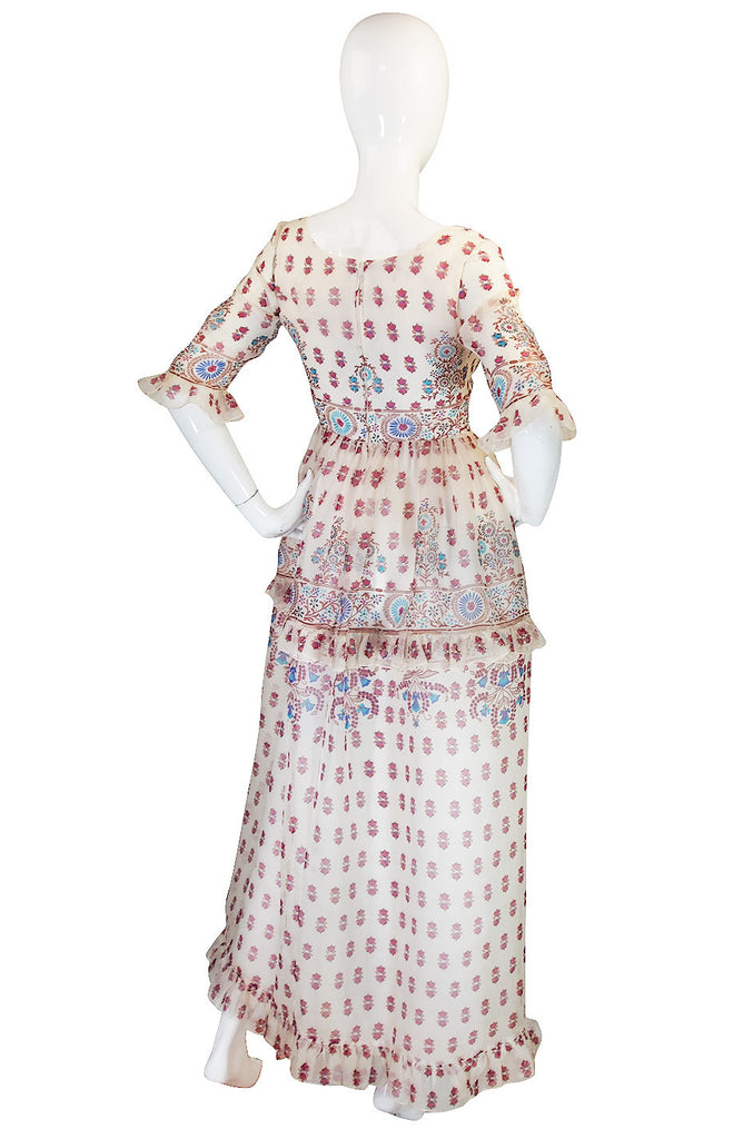 1960s Silk Oscar De La Renta Museum Piece Dress