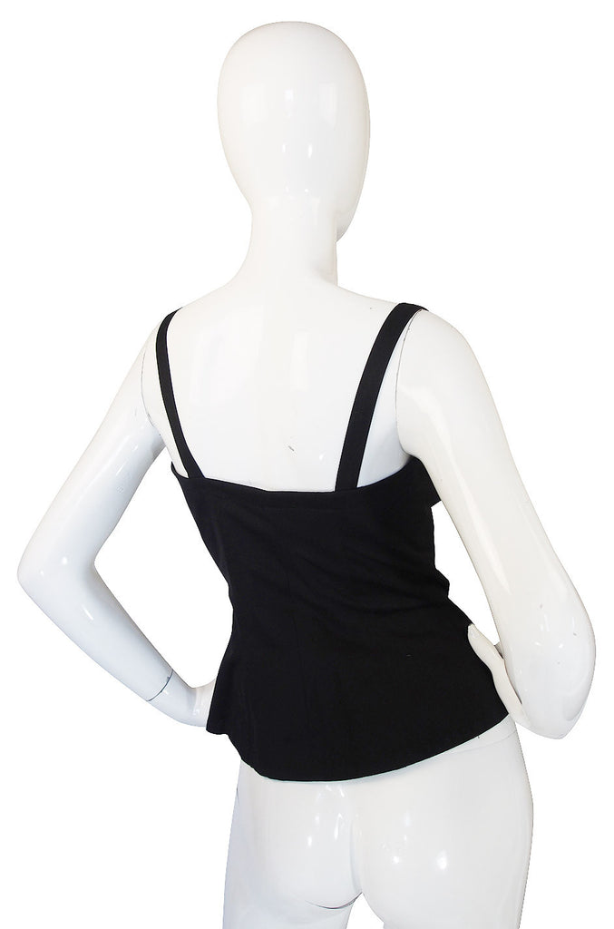 1970s Yves Saint Laurent Black Corset Top