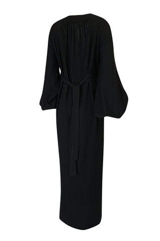 c.1969-1970 Ossie Clark Black 'Graduation' Front Plunge Dress