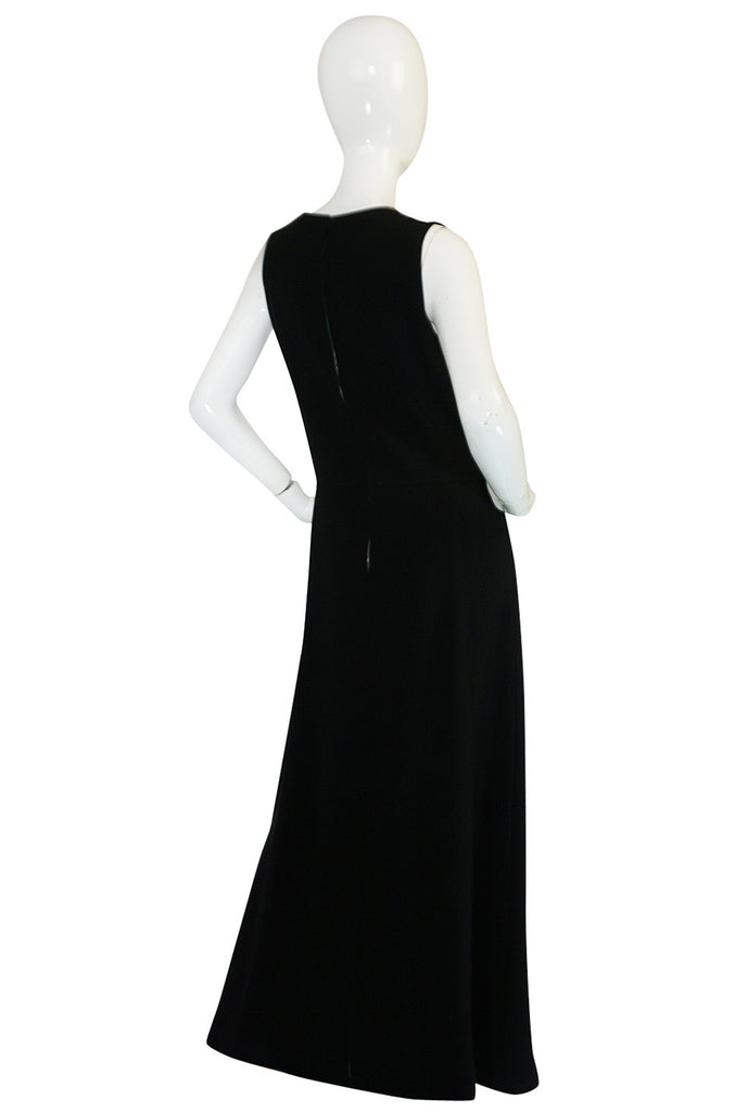 1960s Striking Medallion Embellished Black Dress