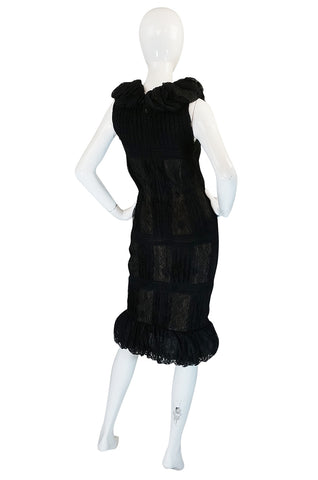 2009C Chanel Resort Runway Elaborate Black Lace Dress