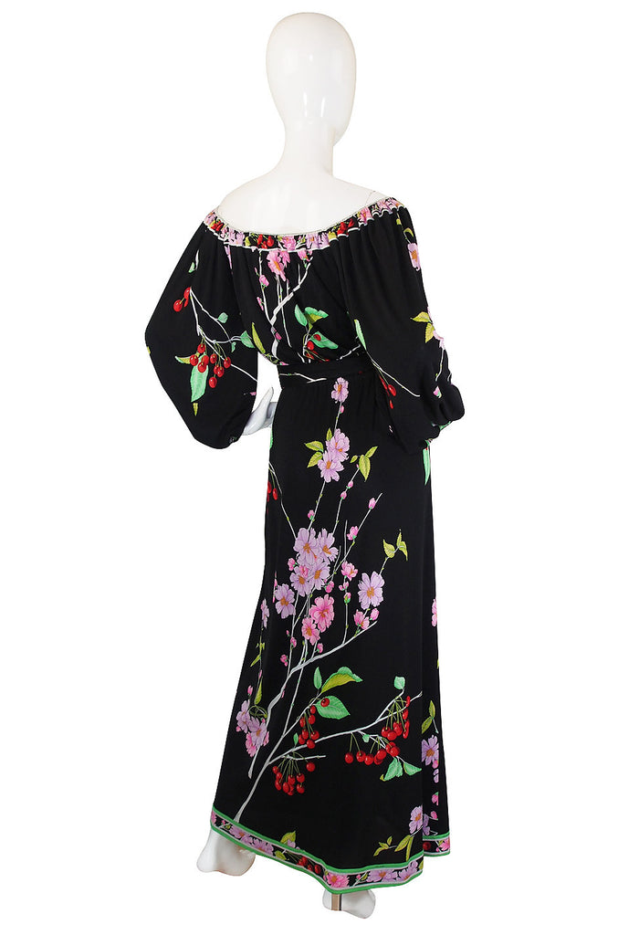 1970s Incredible Silk Jersey Leonard Maxi Dress
