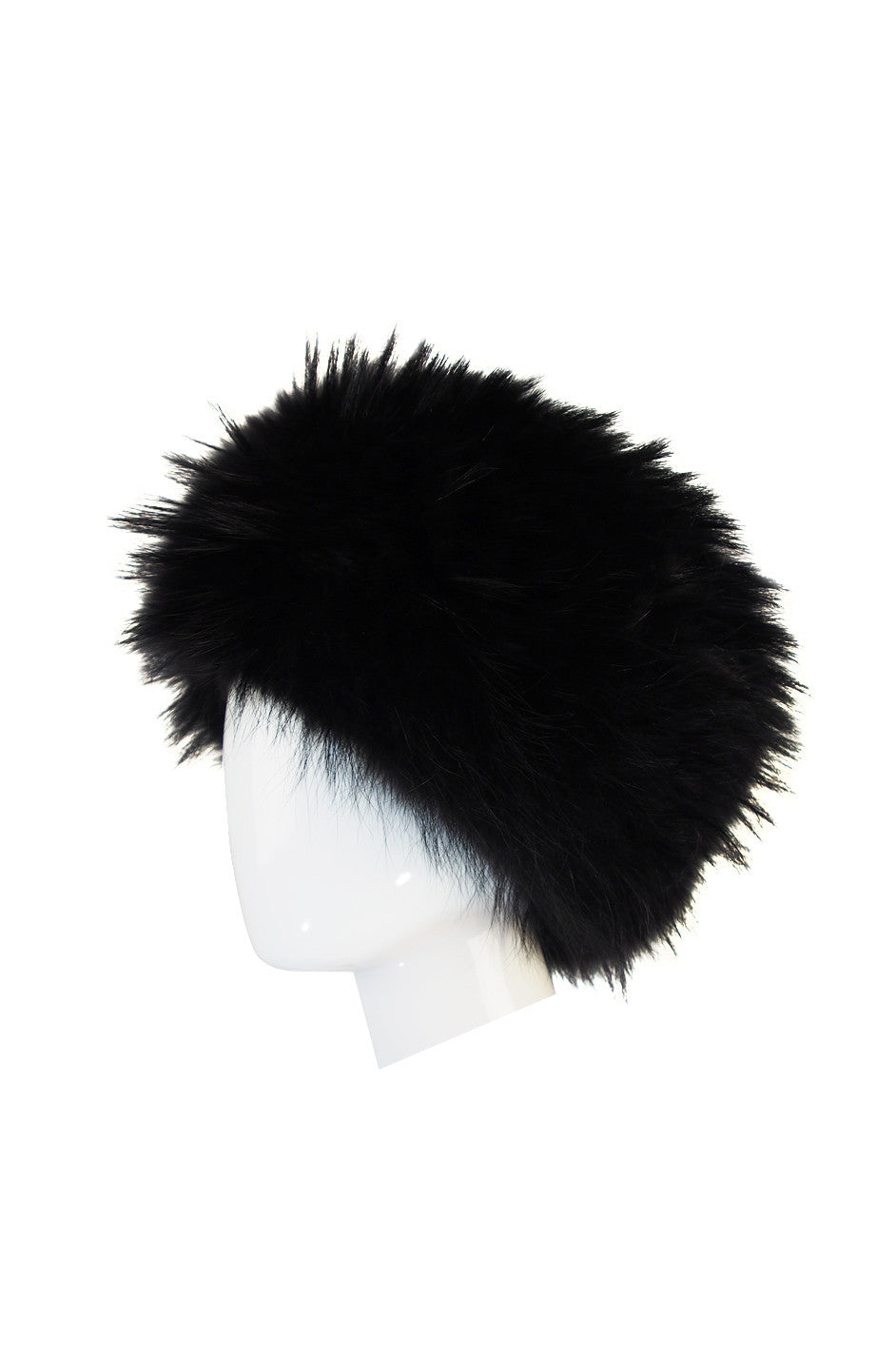 ... 1990s Statement Making Burberry Black Fur Hat ... 643b2a26a99