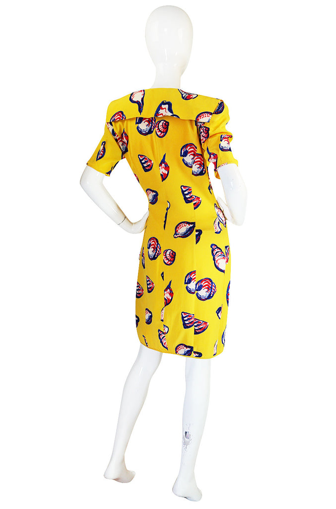 Sunny Yellow 1980s Yellow Silk Ungaro Wrap Dress