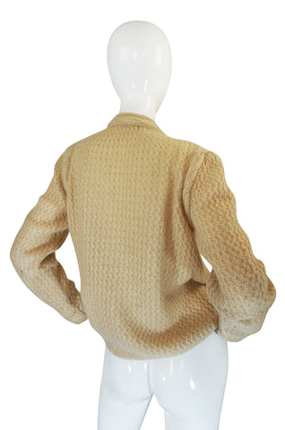 1978-1983 Chanel Creations Camel Color Knit Sweater Cardigan