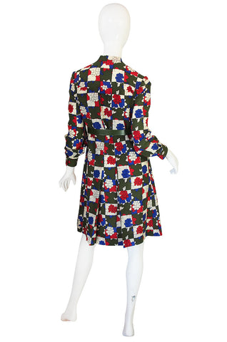1960s Miss Dior Darling Print Challis Dress