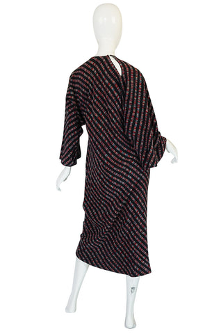 Resort 1977 Halston Bias Spiral Cut Silk Caftan Dress
