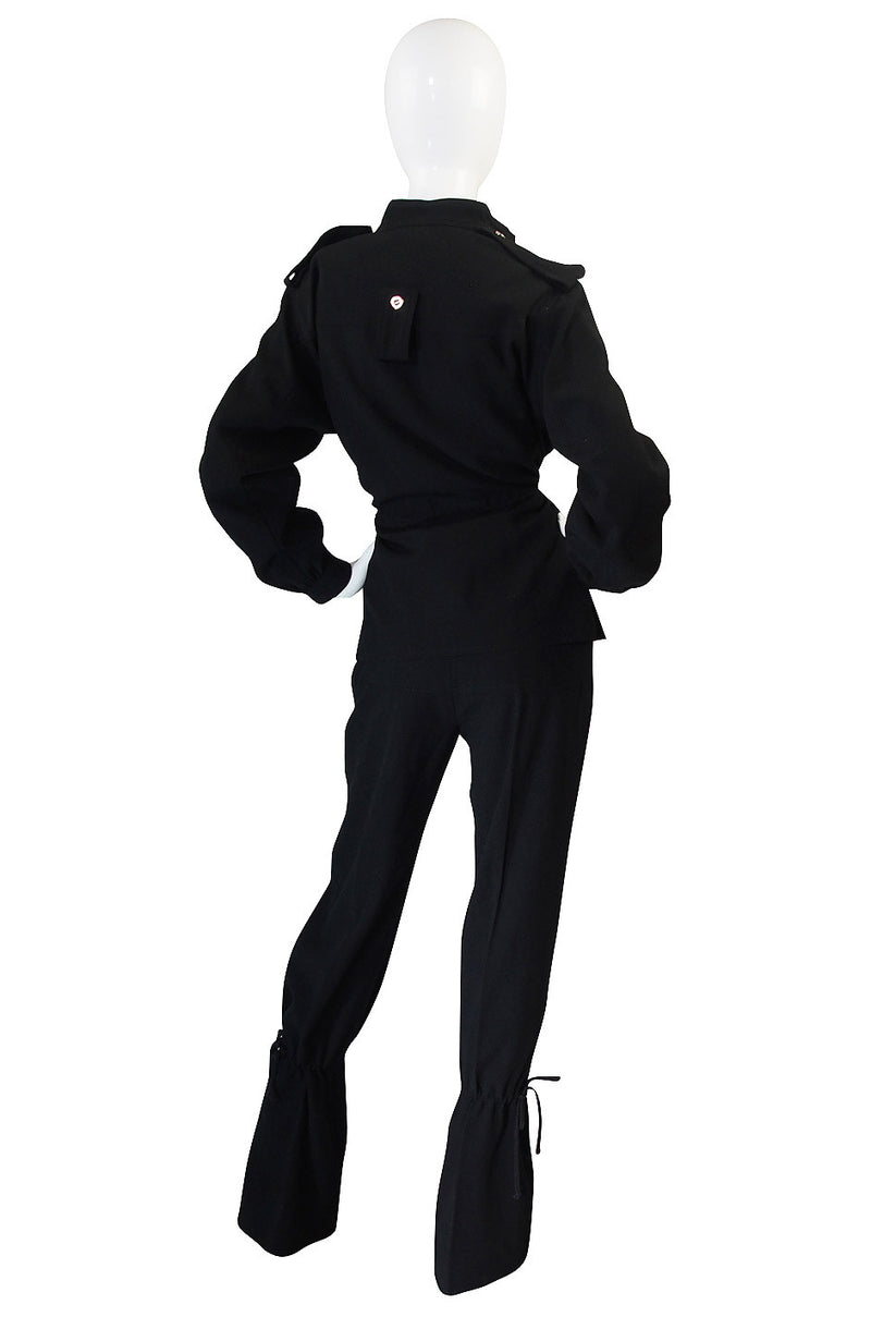 "c1968 Amazing Black Andre Courreges ""Flight"" Suit"