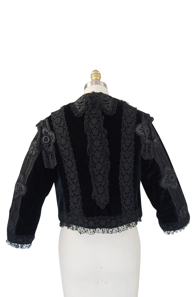 Exquisite Victorian Velvet and Lace Jacket