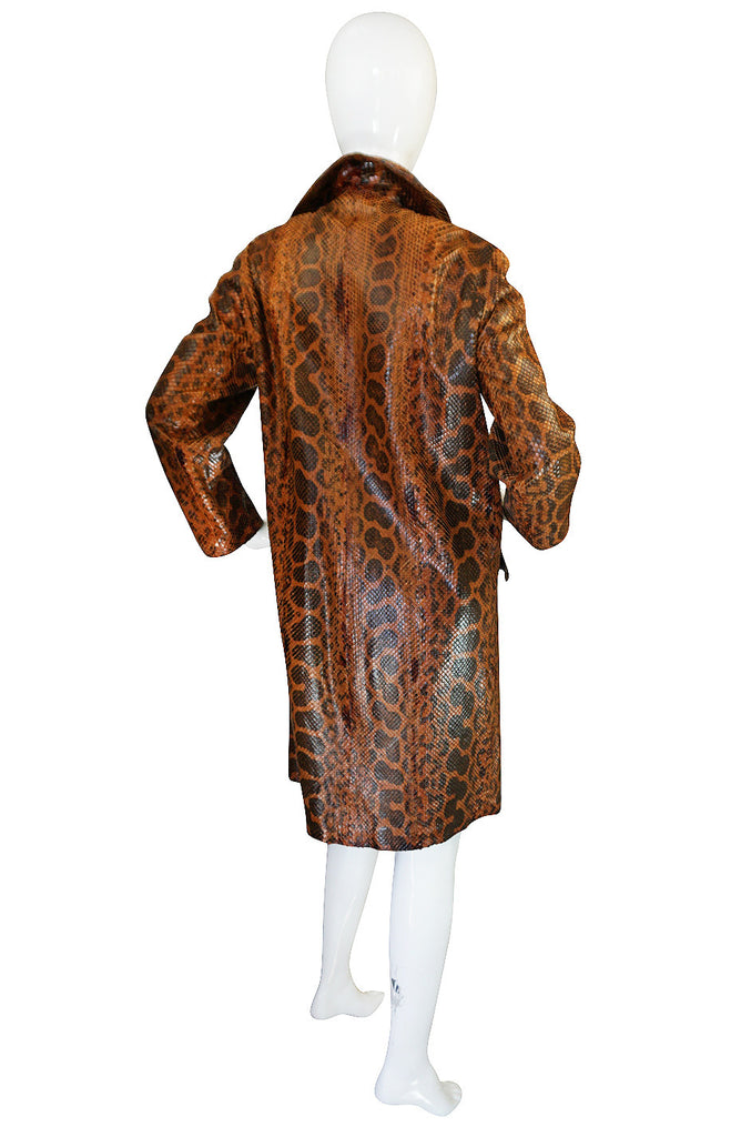 Rare Late 1950s, Early 1960s Mod Snakeskin Coat