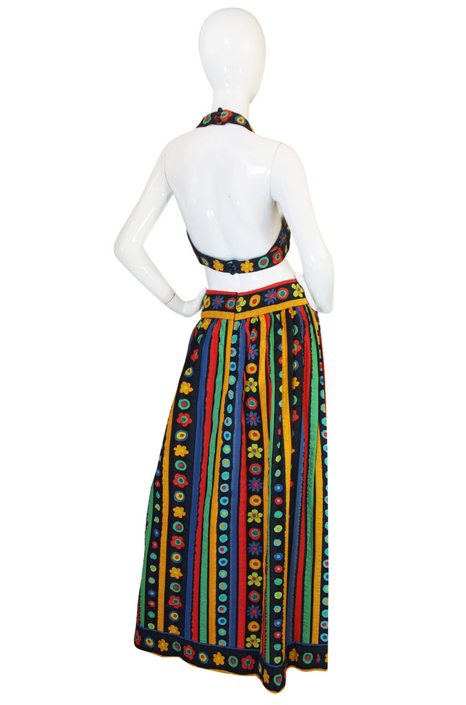 Amazing 1971 Donald Brooks Halter Top & Skirt