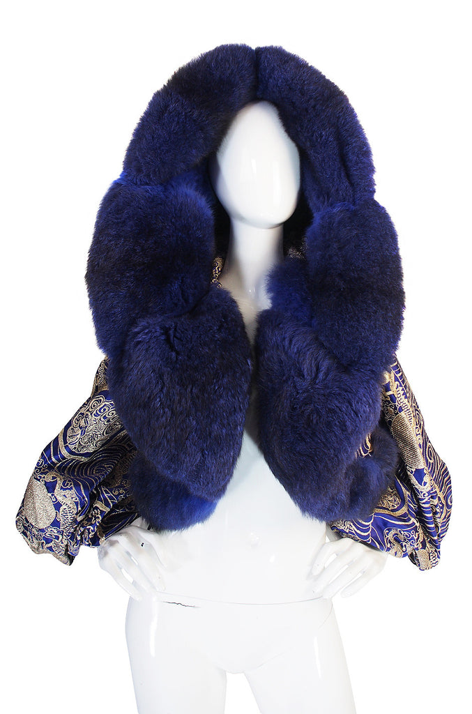 Rare 1989 Fur & Silk Gianfranco Ferre Couture Jacket