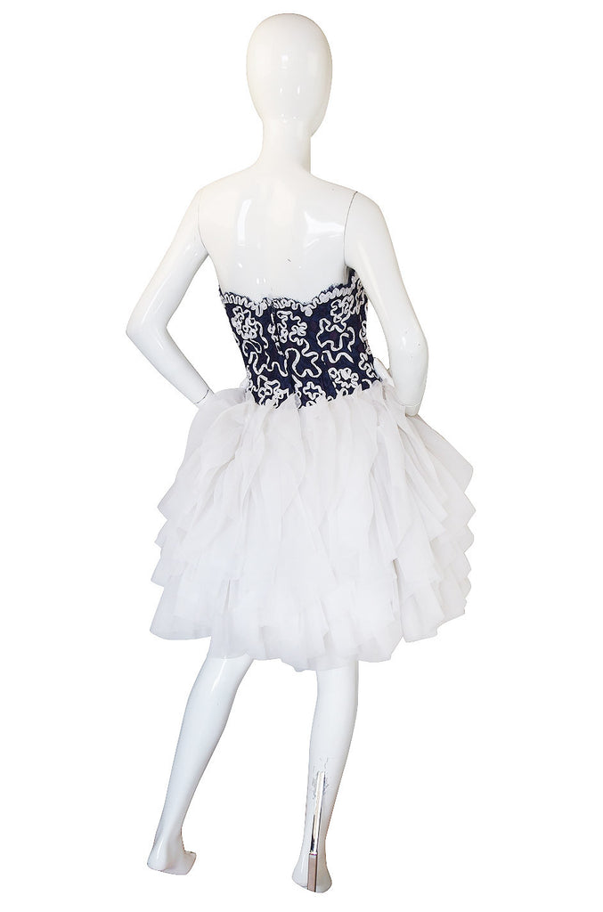 1980s Lilli Diamond Pouf Ribbon Dress