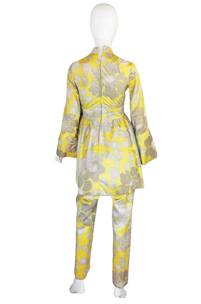 1960s George Halley Silk Tunic and Pant Suit